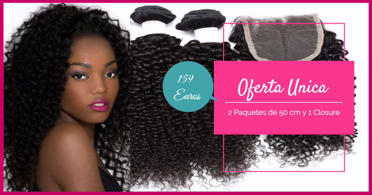 extensiones cabello afro remy oferta